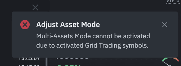 Mulit-assets mode cannot be activated